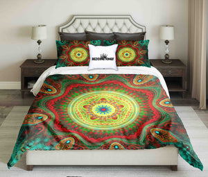 Sacred Colourful Mandala Design Bedding Set | beddingkings