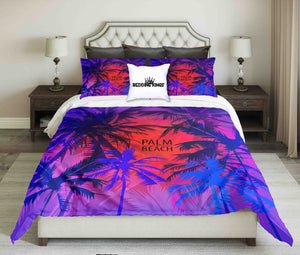 Colourful Palm Beach Design Bedding Set | beddingkings