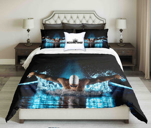 Taking Breath Swimming Butterfly Design Bedding Set | beddingkings