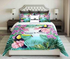 Pelicans On Tropical Background Bedding Set | beddingkings