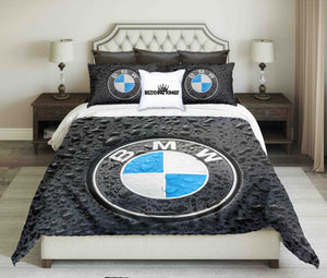 BMW Black Rain Dropped Car Design Bedding Set | beddingkings