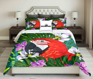 Bright Colour Parrot Design bedding Set | beddingkings