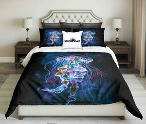 Watercolor Jellyfish Design Bedding Set | beddingkings