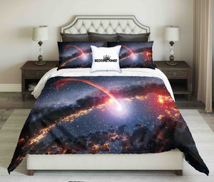 Shooting Comet Design Bedding Set | beddingkings