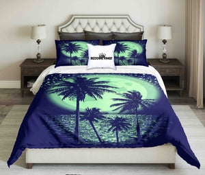 Palms In Moonlight Design Bedding Set | beddingkings