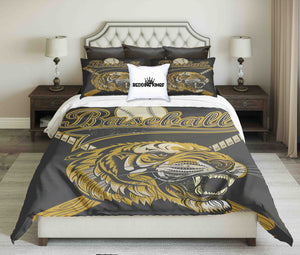 Baseball Design With Lion Symbol Bedding Set | beddingkings