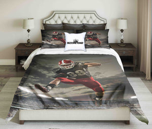 American Football Player In Action Bedding Set | beddingkings