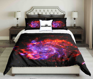 Space Background With Colorful Galaxy Cloud Nebula Bedding Set | beddingkings