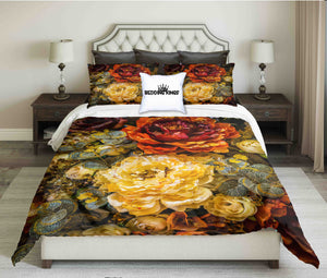 Luxury Flowery Design Bedding Set | beddingkings