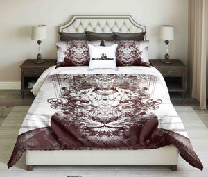 King Lion Abstract Contour Design Bedding Set | beddingkings