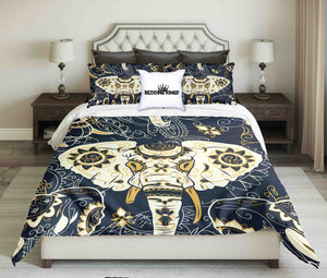 Golden Bohemian Elephant Bedding Set | beddingkings