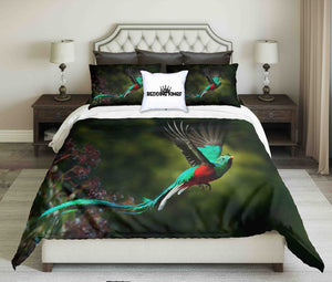 Realistic Colourful Bird Design Bedding Set | beddingkings