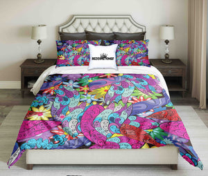 Flowery Design Bright Colours Bedding Set | beddingkings