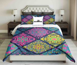 Geometric Pattern Playful Colour Bedding Set | beddingkings