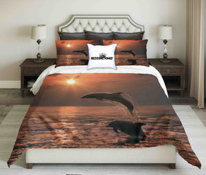Dolphins Jumping Out of Water Bedding Set | beddingkings