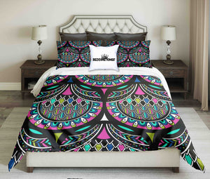 Ornamental Pattern Playful Bedding Set | beddingkings