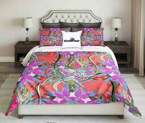 Colorful Flowers Design Bedding Set | beddingkings