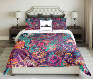 Colorfoul Curved Pattern Bedding Set | beddingkings