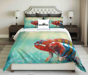 Colorful Iguana Bedding Set | beddingkings