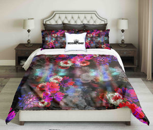 Blured Flowers Design Bedding Set | beddingkings
