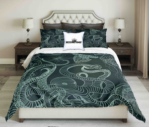 Octopus Jellyfish Oceanic Design Bedding Set | beddingkings