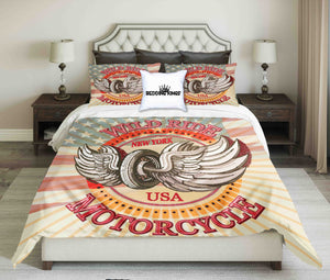 USA Motorcycle Bedding Set | beddingkings