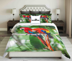 Colourful Parrots Design Bedding set | beddingkings