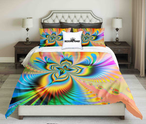 Bright Colours Flower Design Bedding Set | beddingkings