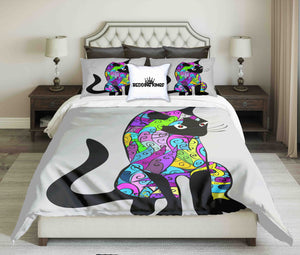 Bright Colours Ornamental Cat Bedding Set | beddingkings