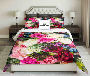 Colourful Flowers Design Bedding Set | beddingkings