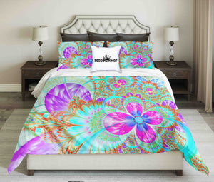 Bright Colour Flower Design Bedding Set | beddingkings
