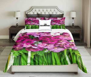 Purple Flowers Design Bedding Set | beddingkings