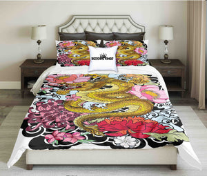 Colourful Dragon Bedding Set | beddingkings