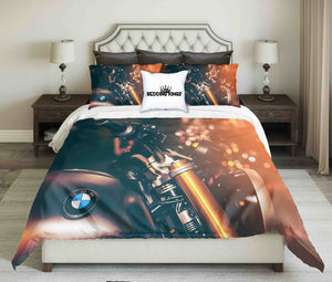 BMW Motorcycle Design Bedding Set | beddingkings