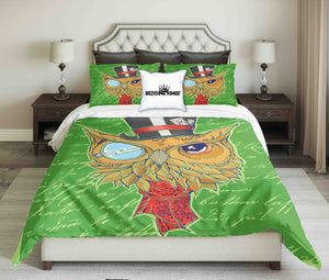 Green Mythical Owl Bedding Set | beddingkings