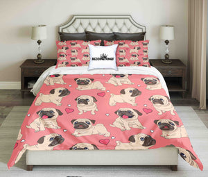 Pug Lovers Design Bedding Set | beddingkings