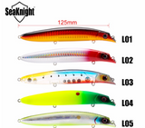 SeaKnight 1Pcs/Lot SK039 Minnow Fishing Lure 0-1.5M 125mm/4.92in 20.5g VMC Hooks 3D Eyes  Hard Bait Tackle
