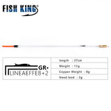 Fish King Carbon plastic  LIGHT 6+2/ 8+2 Fishing Floats