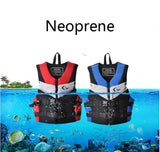 Life Vest Neoprene Lifevest Beach Drifting Surfing Fishing Rafting Kids and Adult Floating Lifejacket BLUE RED Color
