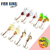FISH KING MEPPS XD High Frequency Vibration 1PC 3 Colors 1# 2# 3# Mustad on Hooks Fishing Lure