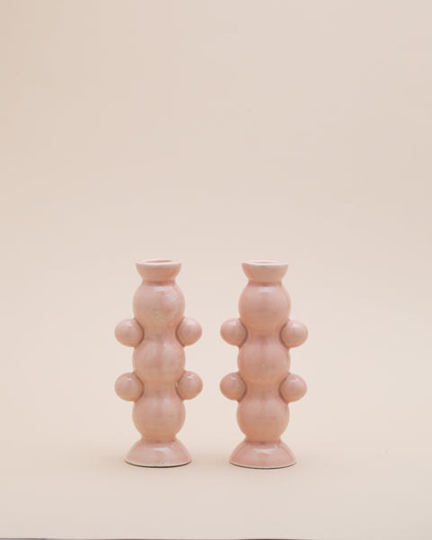 Lockdown Candlesticks - Peach