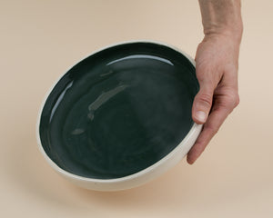 Large Plate - Dark Green