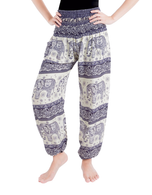 Blue and white Elephant Boho pants