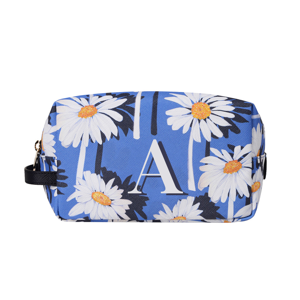 Bacio Make-up Bag in Daisy Monogram