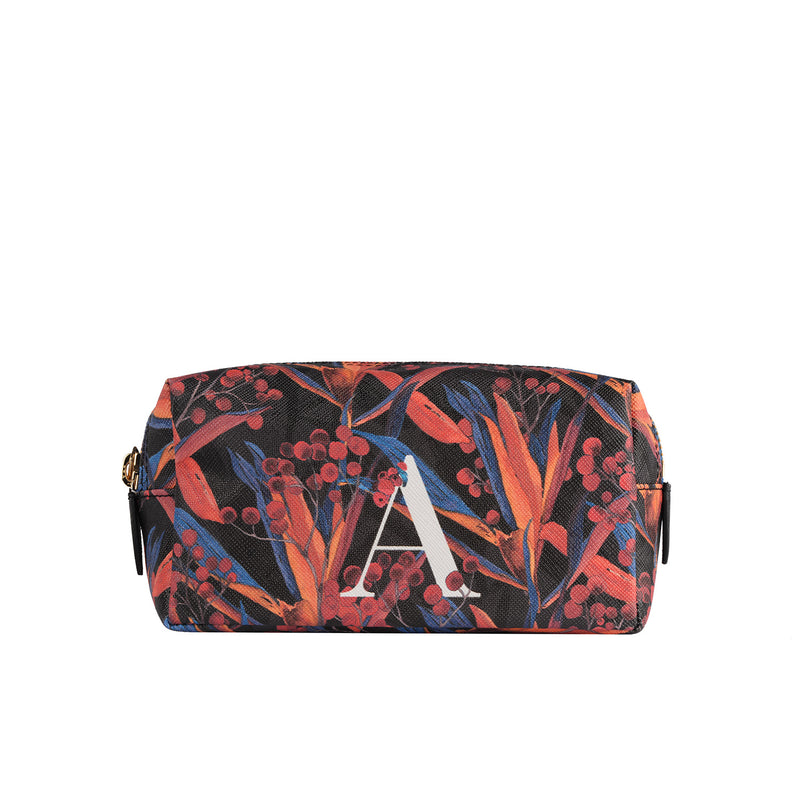 Mini Bacio Make-up Pouch in Cradle Lily Black
