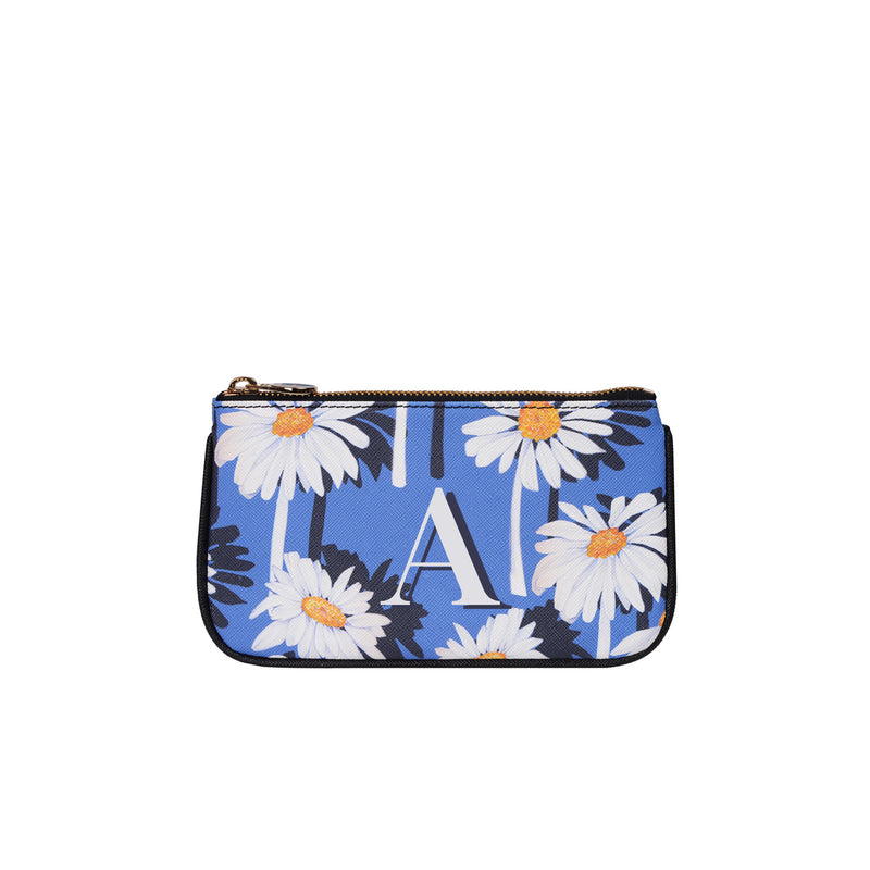 Lily Mini Clutch in Daisy Monogram
