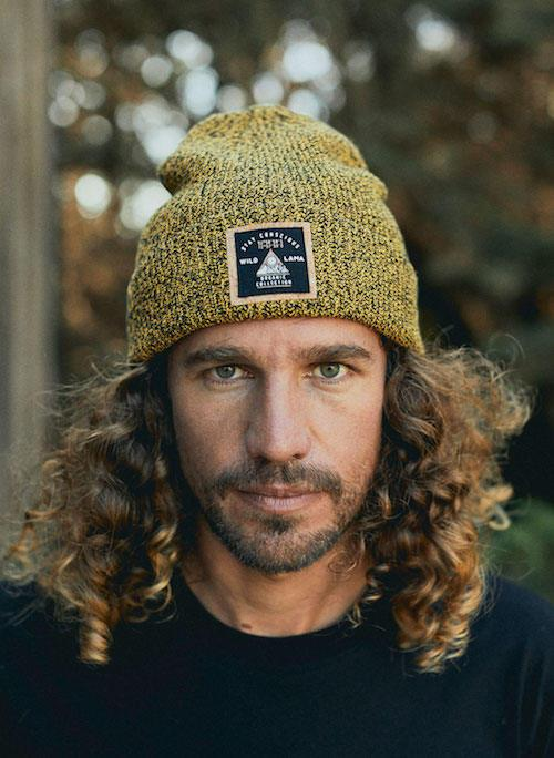 Organic Cotton Urban Black Mustard Beanie