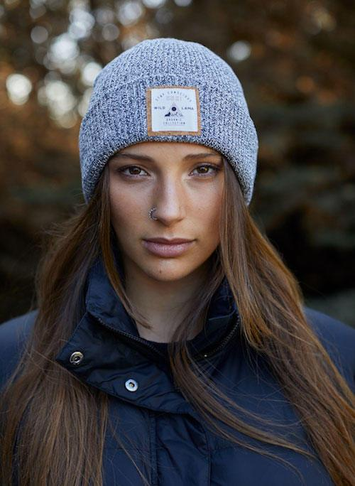 Organic Cotton Urban White & Middle Gray Beanie