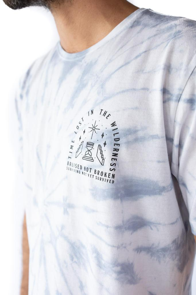 Lost in the Wilderness Organic Cotton Blue Tie Dye T-Shirt