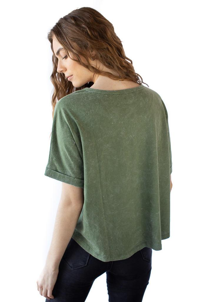 Organic Cotton Essential Olive Green T-Shirt